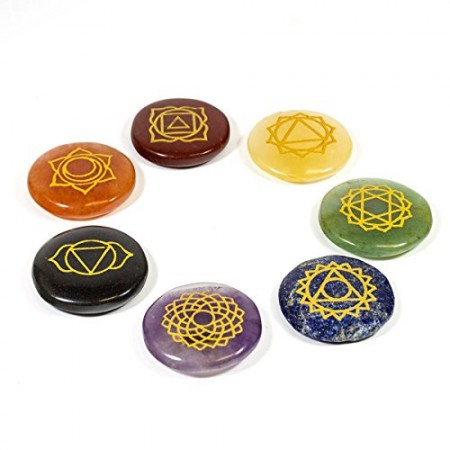 Healing-Crystals-7-Polished-Engraved-Stones-to-Balance-Chakras