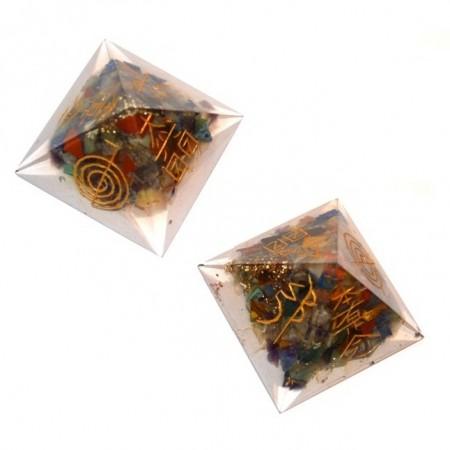 Orgone Pyramids With-Usui Reiki Set Pyramids