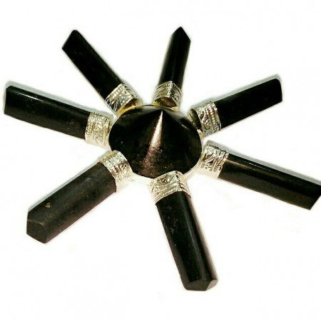 Black Tourmaline Point  Energy Generator
