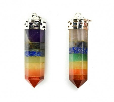 Chakra Jewelry Crystal Pencil Point Pendant