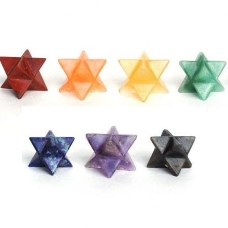 Chakra Stone Merkaba Star