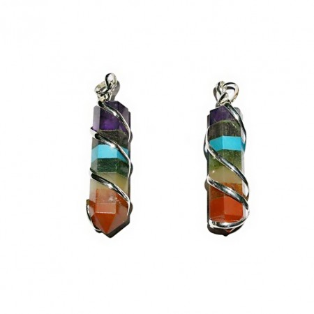 Chakra Stone Wire Wrap Point Pendant