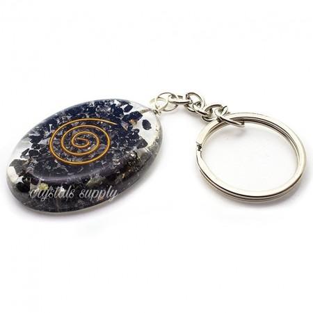 Orgone Keychain - Black Tourmaline Gemstone Keychain