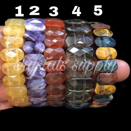 Amethyst Faceted Bracelets - Citrine Bracelets