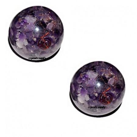 Amethyst Orgone Ball - Wholesale Healing Ball - Crystals Supply