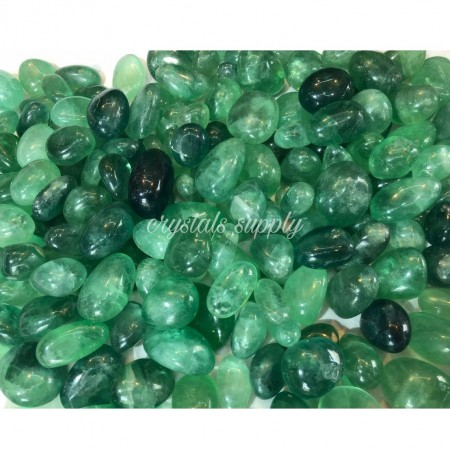 Green Fluorite Tumbled Stone - Wholesale Green Fluorite Tumble Stone - Manufacturer Of Gemstone Tumbled Stone