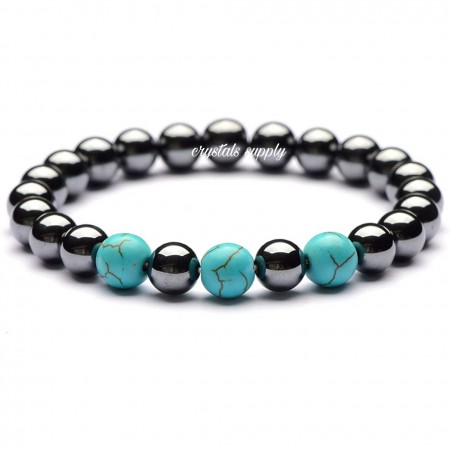 Hematite Bracelets - Yoga Energy Bracelets - Crystals Supply
