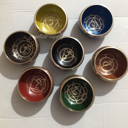 Wholesale Seven Chakra Healing Tibetan Singing Bowl Set for Yoga Meditation - Seven Bowl Set